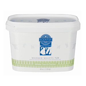 Scentsy Washer Whiffs Tub - White Tea and Cactus