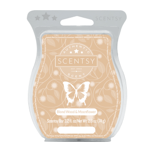 Scentsy Wax Bar - Blond Wood and Moonflower