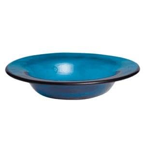 blue diamond shade dish