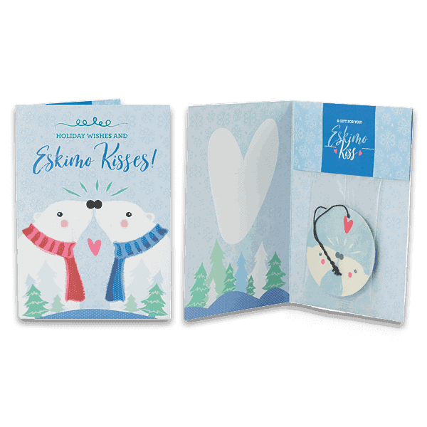Holiday Greeting Cards - Eskimo Kiss