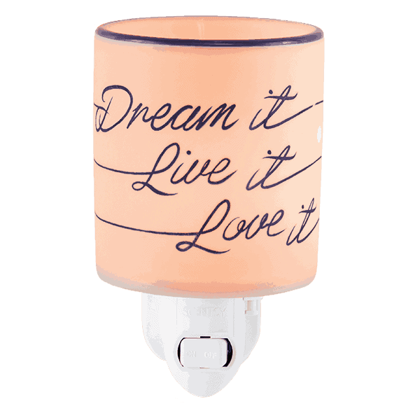 Dream It Live It Love It Mini Scentsy Warmer