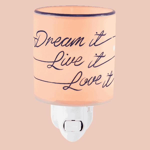 Dream It, Live It, Love It - Mini Scentsy Warmer | Scentsy ...