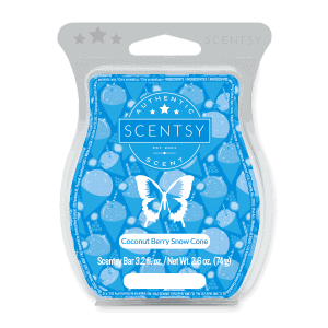 Coconut Berry Snow Cone Scentsy Bar