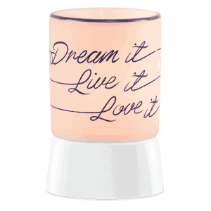 Dream It, Live It, Love It - Mini Scentsy Warmer (Table Top)