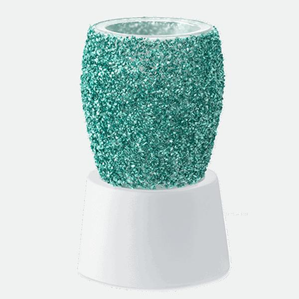 Glitter Teal Mini Scentsy Warmer (Table Top)