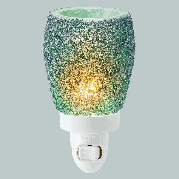 Glitter Teal Mini Scentsy Warmer (Wall Plug)
