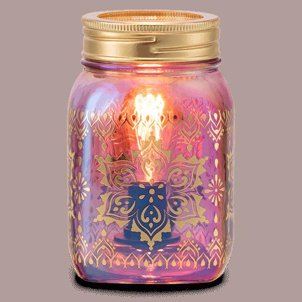 Mandala Mason Jar - Scentsy Warmer