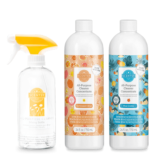 2 All-Purpose Cleaner Concentrates + Mixing Bottle