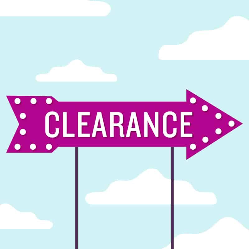 Clearance Hero Image